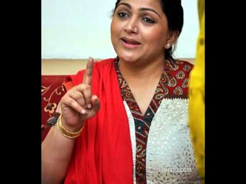 Tamil Actress Kushboo In Pressmeet video