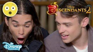 Descendants 2 | Thomas Doherty & Booboo Stewart - Spider Challenge #1 🕷 | Official Disney Channel UK