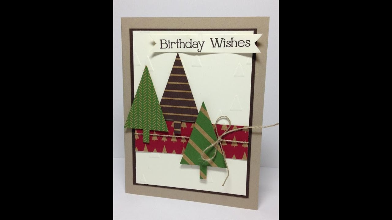 Festival of trees stampin up online card class 6 of 6 youtube