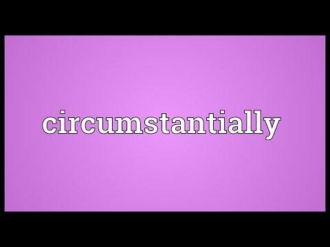 Header of circumstantially