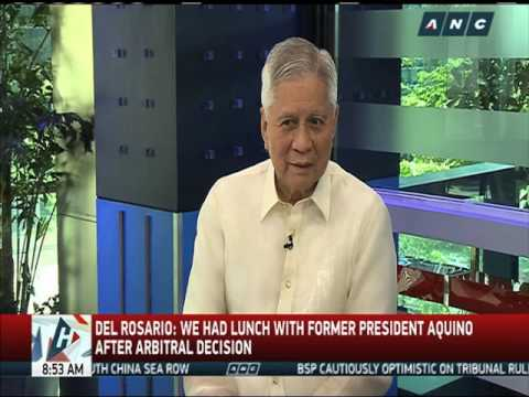 Conflict of interest for Del Rosario in Reed Bank?