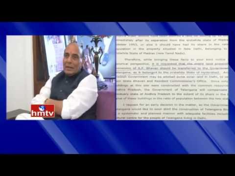 CM KCR Letter to Union Minister Rajnath Singh over Delhi AP Bhavan Issue | HMTV