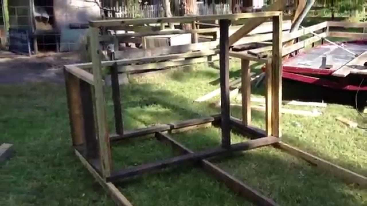 How to build a portable pig pen or chicken coop building a portable