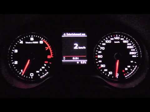 2013 Audi A3 1.8 TFSI 180 HP 0-100 km/h & 0-100 mph Acceleration