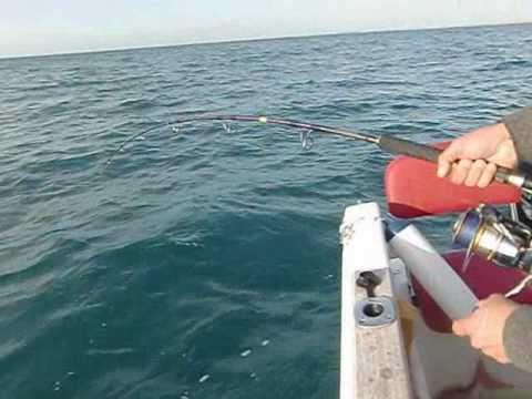 pesca de dos pargos al jigging de 15 y 16 kg
