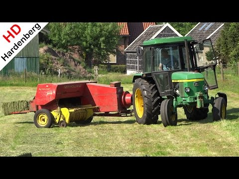 John Deere 1640 + New Holland 276 Super Hayliner | Balen persen in Holland | 2015.