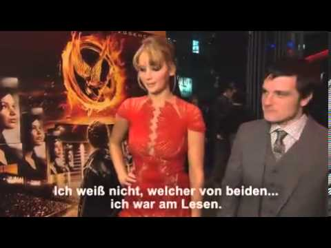 Jennifer Lawrence and Josh Hutcherson answer questions