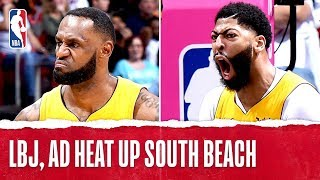LBJ, AD HEAT UP In Miami!