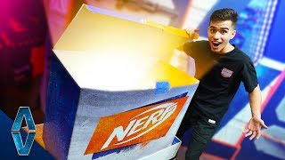 Unboxing A GIANT NERF Mystery Box!!