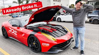 YOU WONT BELIEVE THIS, I BROKE THE NEW FERRARI!