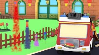 Tiny Cars - Chinese New Year - Kids Animation with Street Vehicles Bulldozer, Excavator & Crane
