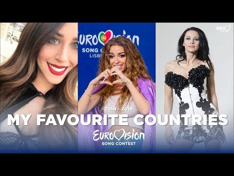 My Favourite Eurovision Countries (2010-2019)