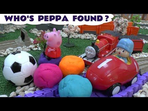 Thomas The Train Peppa Pig Play Doh Surprise Egg Pocoyo RC Remote Control Huevo Sorpresa Playdough