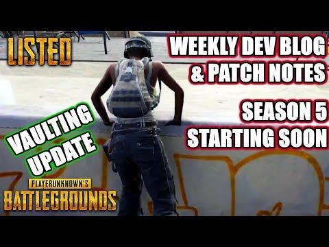 Vaulting Update & Weekly Dev Blog | #PUBG | Listed | Battlegrounds News Gameplay