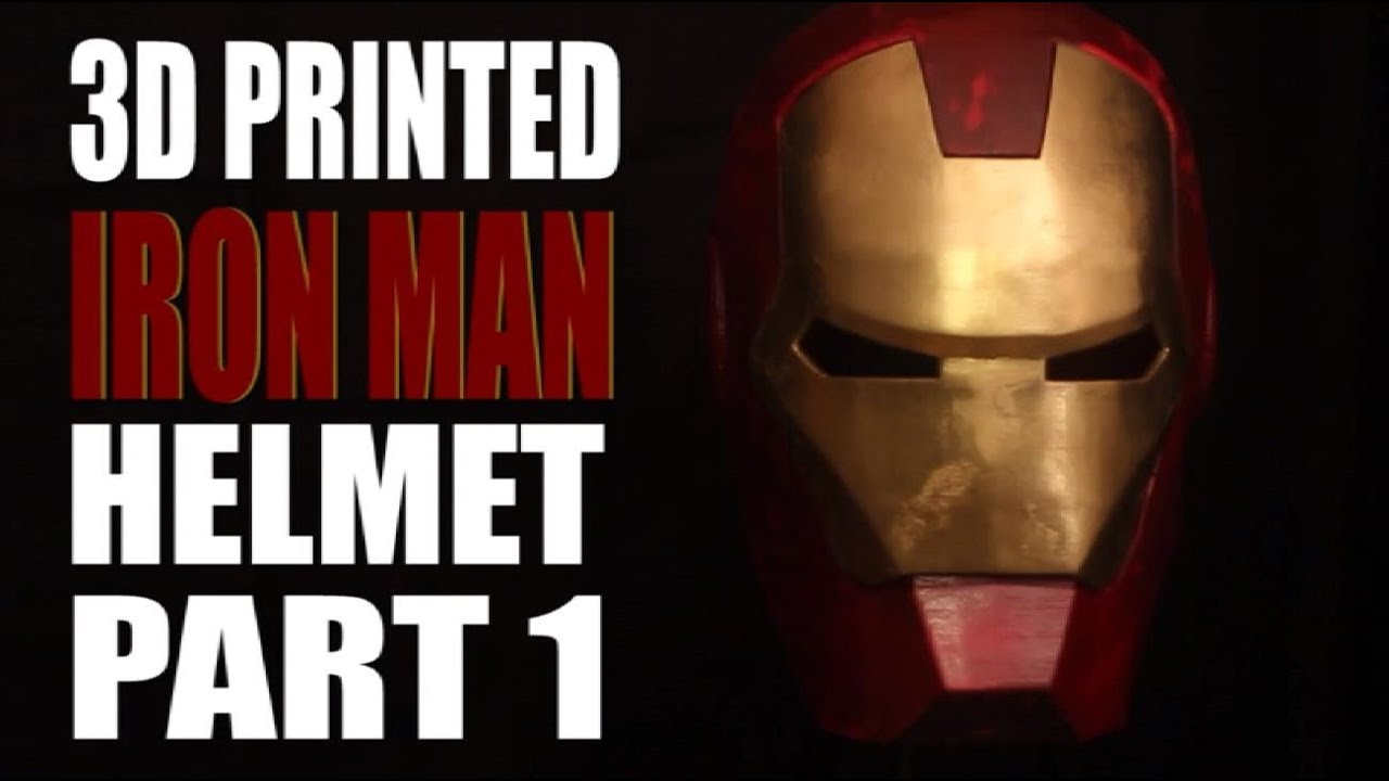 Iron 3d Printer Iron Man Helmet Made With a 3d