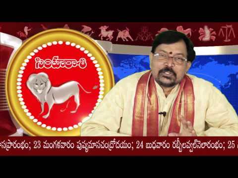 Simha Rasi (leo) 2014 - Sree Jaya - December Predictions Part 1 video