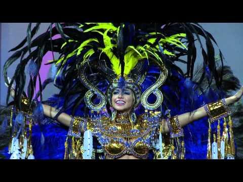 Miss Panamá, Carolina Brid en Traje de Fantasía en el Miss Universo 2013 en Moscú.