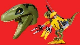 How To Build LEGO Dinosaur Cyborg (Alternate Build: #5884 Raptor Chase)