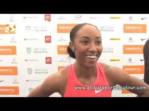 Brianna Rollins Post Diamond League interview - Birmingham 2015