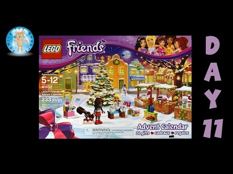 LEGO Friends Advent Calendar 41102 Day 11 Stop Motion Animation Build - Family Toy Report