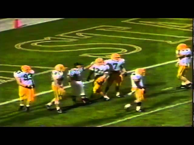 Oregon punter Tommy Thompson pins ASU at the 2 yard line 11-09-1991