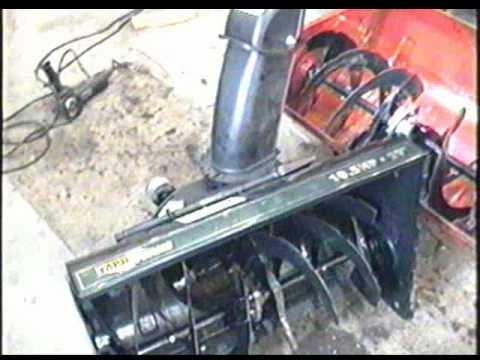 REPAIR of the MTD Snowblower PART 1 of 3 - Auger Gear Box