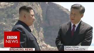 North Korea's leader Kim Jong-Un visits China - BBC News