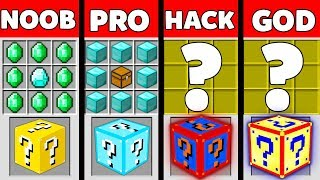 Minecraft Battle: NOOB vs PRO vs HACKER vs GOD : SUPER LUCKY BLOCK Challenge in Minecraft Animation