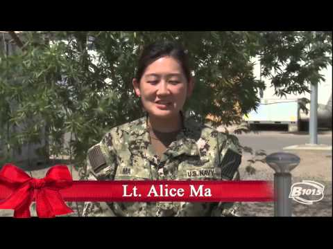 B101.5 thanks the military men and women who are currently serving their country, here in America, and all around the world. Happy Holidays from B101.5! Lt. Alice Ma Stationed: Camp Lemonnier,...
