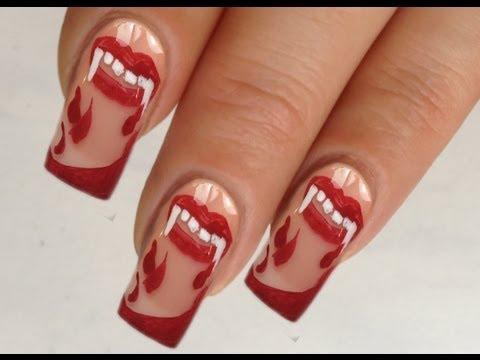 Nailart Design Tutorial Halloween bloody vampire