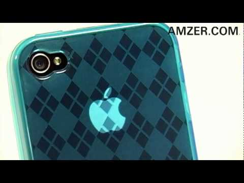 Amzer® Luxe Argyle High Gloss TPU Soft Gel Skin Case for Apple iPhone 4!