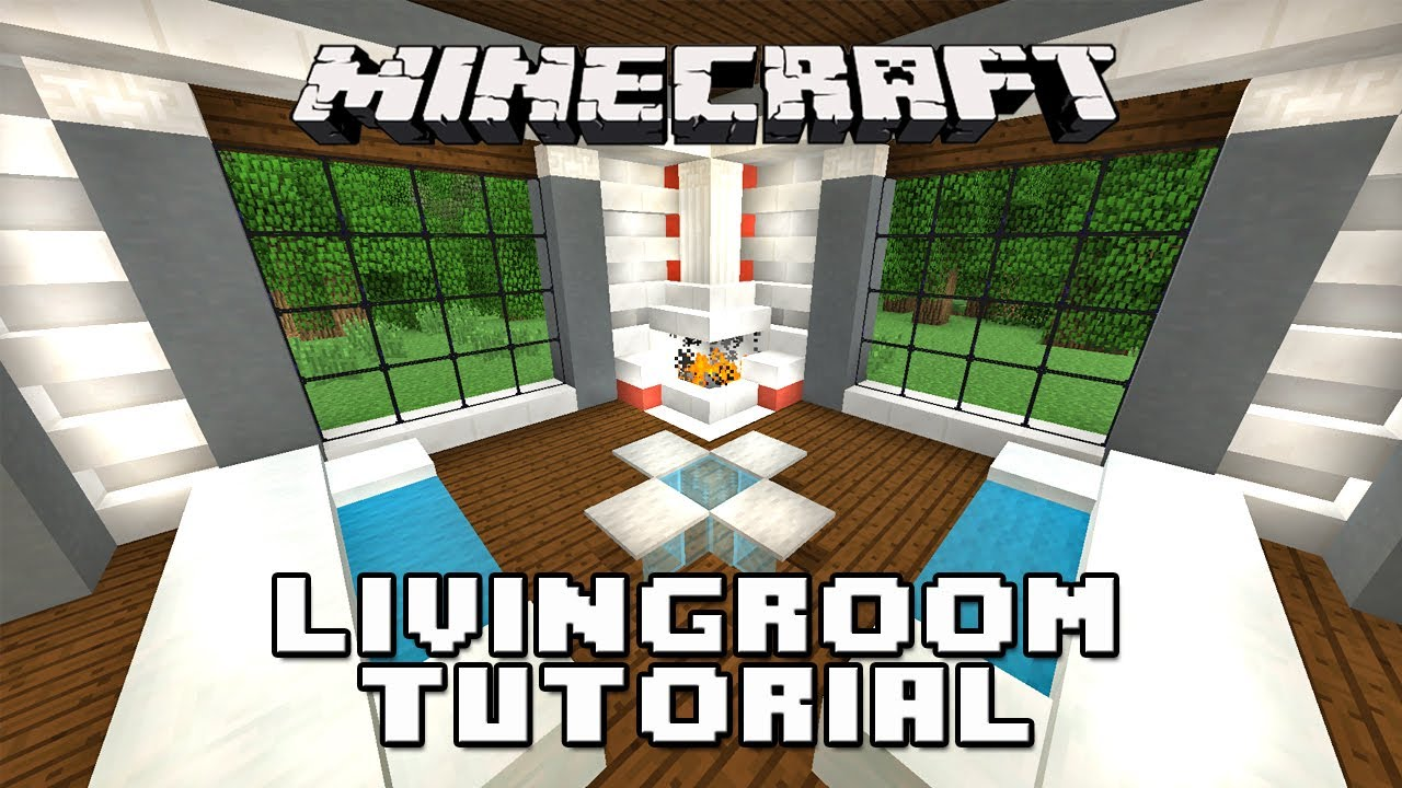 Minecraft Tutorial: How To Make A Living Room, Furniture ...