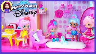 Happy Places Grand Mansion Dream House Set up with Disney Belle & Cinderella Petkins & Shopkins