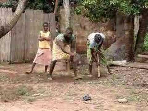 Togo Girl Hoe Farming in Africa