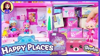 Disney Happy Places Petkins Garage full of Blind Boxes Opening Shoppies Shopkins