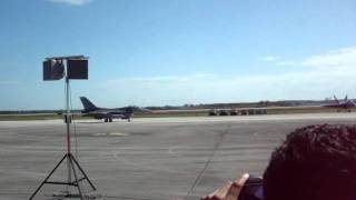 F-16 Squadron followed by an A-10 Taxiing