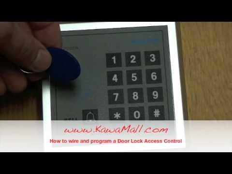 KAWAMALL RFID Door Lock Access Control System Install