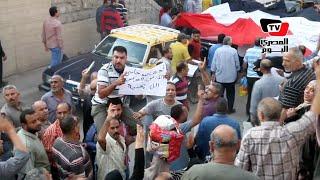 مسيرة ضد الإرهاب لعمال شركة مصر للغزل والنسيج بالمحلة الكبرى