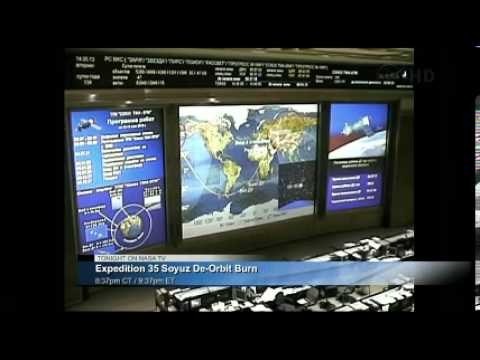 Part 1  ISS Expedition 35 NASA TV Landing Coverage May 13, 2013