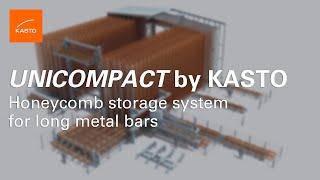 Simulation Honeycomb System: Bar Storage KASTO UNICOMPACT