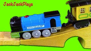 TRAINS for Toddlers | RC Toy Train UNBOXING Play for Thomas wooden track