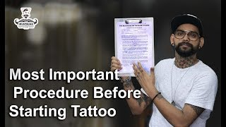 Most Important Procedure Before Starting Tattoo | Tattoo Tutorial | part - 19
