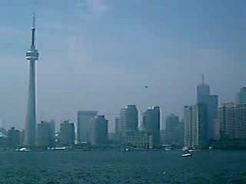 Toronto Skyline with the CN Tower in view Video
