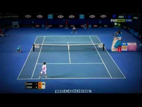 Djokovic vs Ferrer   Australian Open 2012 Quarter Final HQ