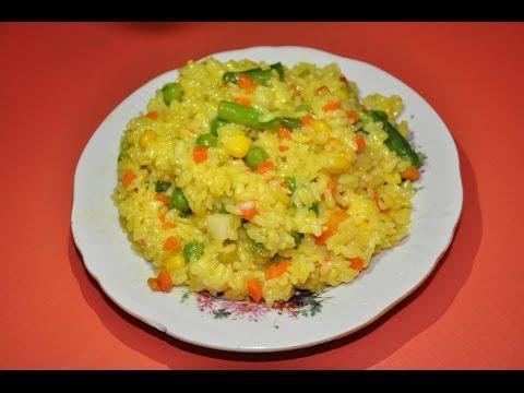 Как приготовить рис с овощами - видео