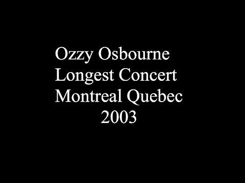 Ozzy Osbourne - Live In Montreal Quebec 2003