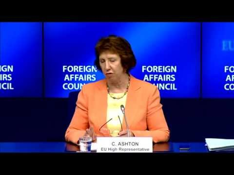 Foreign Affairs Council - July 2013: Catherine Ashton - Press Conference