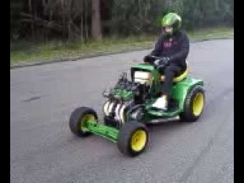 Ride On Mower >> marks john deere drag mower launching... - YouTube