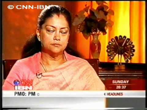 CNN IBN Vasundhara Raje 10 12 2006