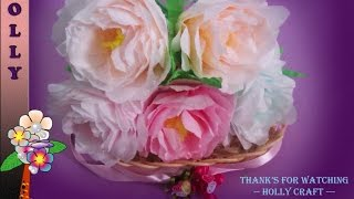 How To Make Tissue Paper Flowers : Shabby Chic Peonies